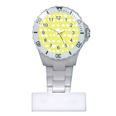 Polkadot White Yellow Plastic Nurses Watch