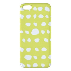 Polkadot White Yellow iPhone 5S/ SE Premium Hardshell Case