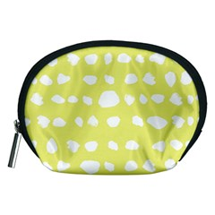 Polkadot White Yellow Accessory Pouches (Medium)