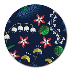 Origami Flower Floral Star Leaf Round Mousepads