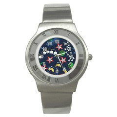 Origami Flower Floral Star Leaf Stainless Steel Watch