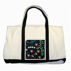 Origami Flower Floral Star Leaf Two Tone Tote Bag