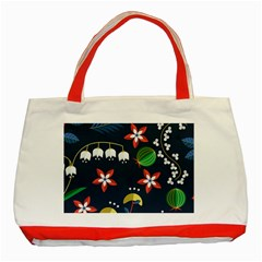 Origami Flower Floral Star Leaf Classic Tote Bag (Red)