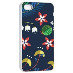 Origami Flower Floral Star Leaf Apple iPhone 4/4s Seamless Case (White)