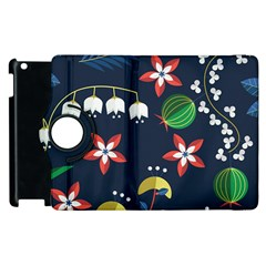 Origami Flower Floral Star Leaf Apple iPad 2 Flip 360 Case