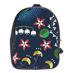Origami Flower Floral Star Leaf School Bags (XL)