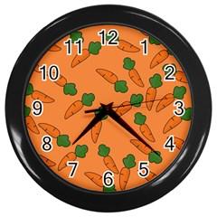 Carrot pattern Wall Clocks (Black)