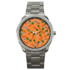 Carrot pattern Sport Metal Watch