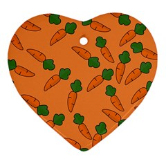 Carrot pattern Heart Ornament (Two Sides)