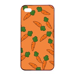 Carrot pattern Apple iPhone 4/4s Seamless Case (Black)