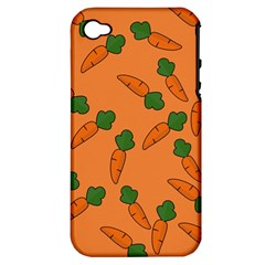 Carrot pattern Apple iPhone 4/4S Hardshell Case (PC+Silicone)