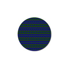 Split Diamond Blue Green Woven Fabric Golf Ball Marker (10 pack)
