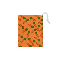 Carrot pattern Drawstring Pouches (XS)