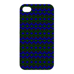 Split Diamond Blue Green Woven Fabric Apple iPhone 4/4S Hardshell Case