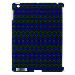 Split Diamond Blue Green Woven Fabric Apple iPad 3/4 Hardshell Case (Compatible with Smart Cover)