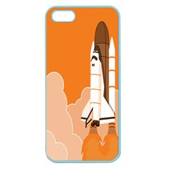 Rocket Space Ship Orange Apple Seamless iPhone 5 Case (Color)