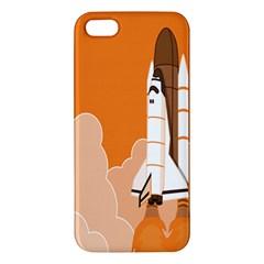 Rocket Space Ship Orange Apple iPhone 5 Premium Hardshell Case