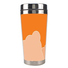 Rocket Space Ship Orange Stainless Steel Travel Tumblers