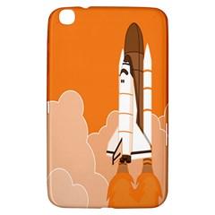 Rocket Space Ship Orange Samsung Galaxy Tab 3 (8 ) T3100 Hardshell Case