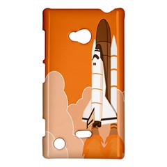 Rocket Space Ship Orange Nokia Lumia 720