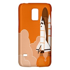 Rocket Space Ship Orange Galaxy S5 Mini