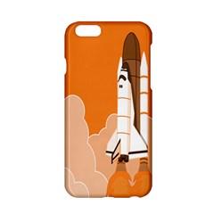 Rocket Space Ship Orange Apple iPhone 6/6S Hardshell Case
