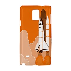 Rocket Space Ship Orange Samsung Galaxy Note 4 Hardshell Case