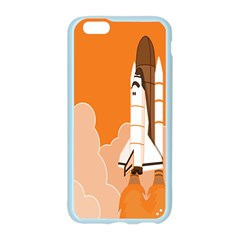 Rocket Space Ship Orange Apple Seamless iPhone 6/6S Case (Color)