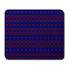 Split Diamond Blue Purple Woven Fabric Large Mousepads