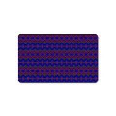 Split Diamond Blue Purple Woven Fabric Magnet (Name Card)