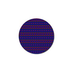 Split Diamond Blue Purple Woven Fabric Golf Ball Marker