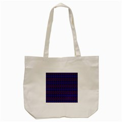 Split Diamond Blue Purple Woven Fabric Tote Bag (Cream)