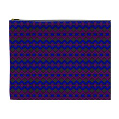 Split Diamond Blue Purple Woven Fabric Cosmetic Bag (XL)