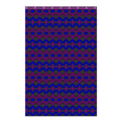 Split Diamond Blue Purple Woven Fabric Shower Curtain 48  x 72  (Small)