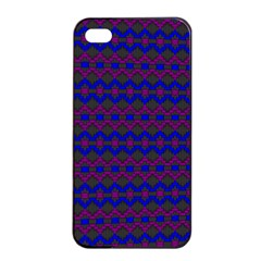 Split Diamond Blue Purple Woven Fabric Apple iPhone 4/4s Seamless Case (Black)