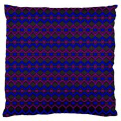 Split Diamond Blue Purple Woven Fabric Large Cushion Case (Two Sides)