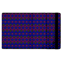 Split Diamond Blue Purple Woven Fabric Apple iPad 3/4 Flip Case