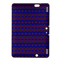Split Diamond Blue Purple Woven Fabric Kindle Fire HDX 8.9  Hardshell Case