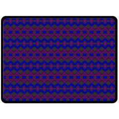 Split Diamond Blue Purple Woven Fabric Double Sided Fleece Blanket (Large)