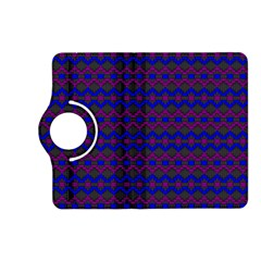 Split Diamond Blue Purple Woven Fabric Kindle Fire HD (2013) Flip 360 Case