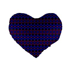 Split Diamond Blue Purple Woven Fabric Standard 16  Premium Flano Heart Shape Cushions