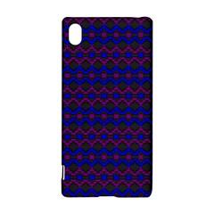 Split Diamond Blue Purple Woven Fabric Sony Xperia Z3+