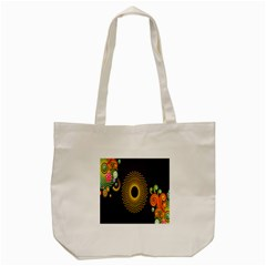 Polka Dot Circle Leaf Flower Floral Yellow Purple Red Star Tote Bag (Cream)