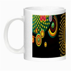 Polka Dot Circle Leaf Flower Floral Yellow Purple Red Star Night Luminous Mugs