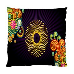 Polka Dot Circle Leaf Flower Floral Yellow Purple Red Star Standard Cushion Case (One Side)