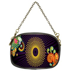 Polka Dot Circle Leaf Flower Floral Yellow Purple Red Star Chain Purses (Two Sides)