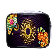Polka Dot Circle Leaf Flower Floral Yellow Purple Red Star Mini Toiletries Bags