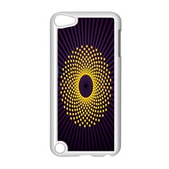 Polka Dot Circle Leaf Flower Floral Yellow Purple Red Star Apple iPod Touch 5 Case (White)