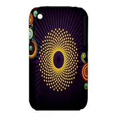 Polka Dot Circle Leaf Flower Floral Yellow Purple Red Star iPhone 3S/3GS