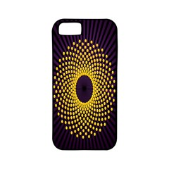 Polka Dot Circle Leaf Flower Floral Yellow Purple Red Star Apple iPhone 5 Classic Hardshell Case (PC+Silicone)